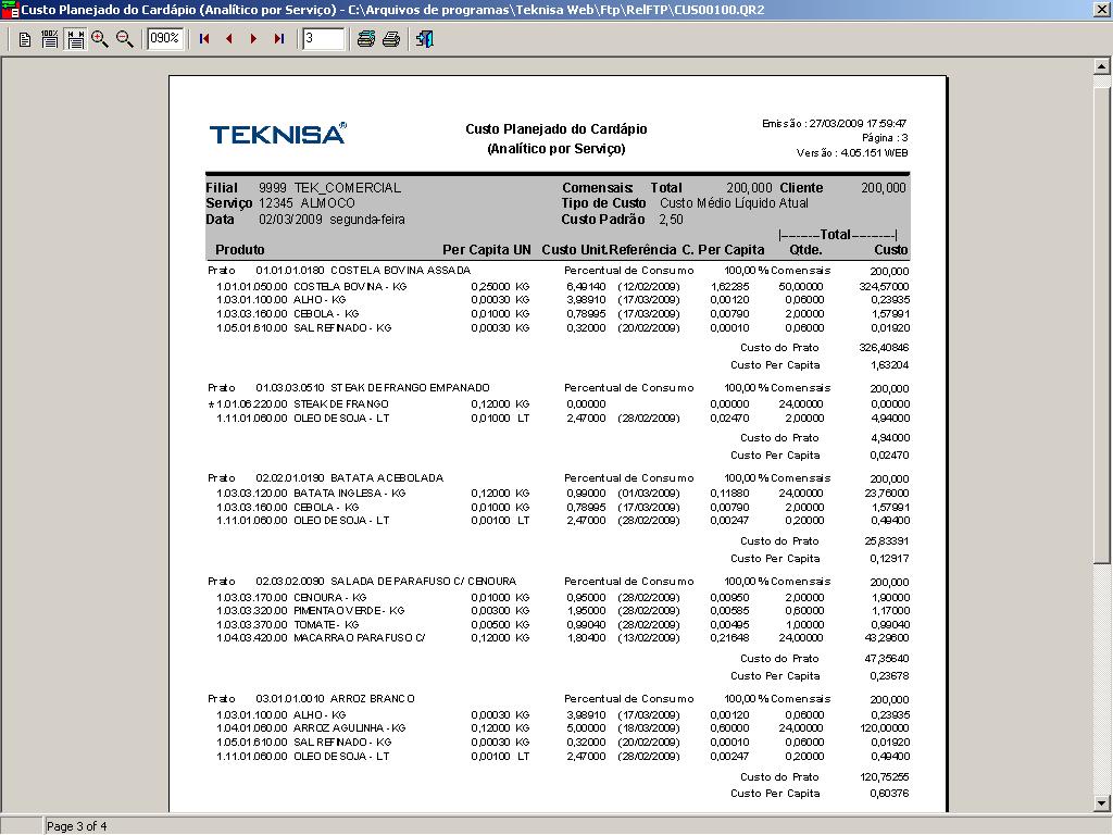 Manual Planejamento De Alimenta O Corporativa Documenta O Teknisa